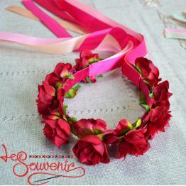Веночек Розовые краски PV-1018
