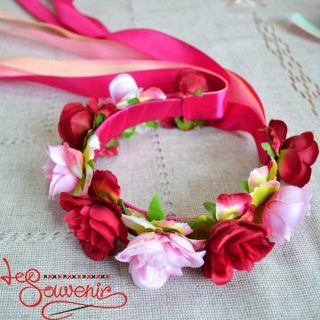 Віночок Трояндові барви PV-1019