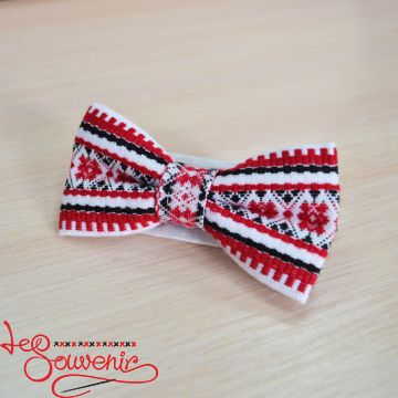 Embroidered White and Red Butterfly VM-1007