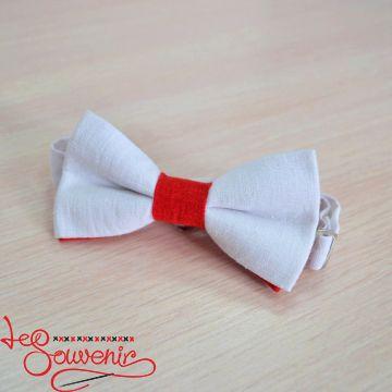 Бабочка бело-красная VM-1015