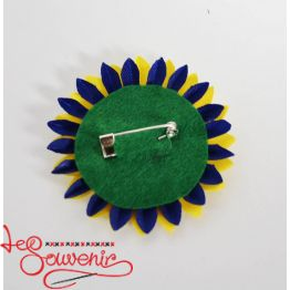 Badge Blue and Yellow Flower ZIP-1016