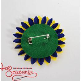 Значок Цветок сине-желтый ZIP-1016