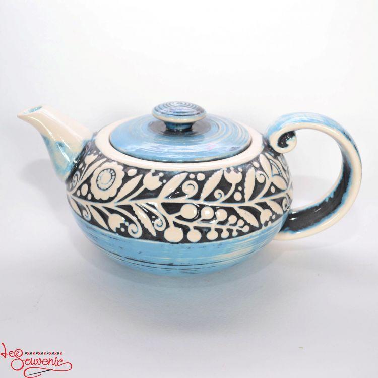голубой чайник