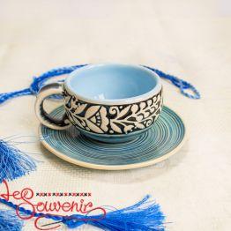 Тарелочка голубая SCC-1025
