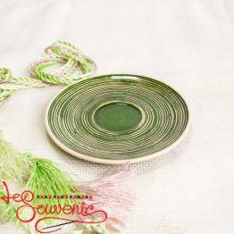 Тарелочка зелёная SCC-1026