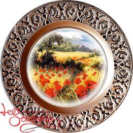 Тарелка Пейзаж с маками SKT-1030