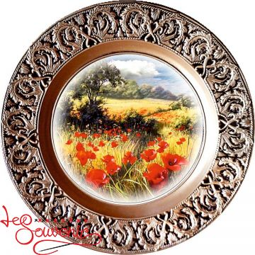 Plate A landscape with poppies SKT-1030
