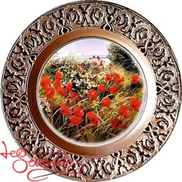 Plate Poppies with Daisies SKT-1031