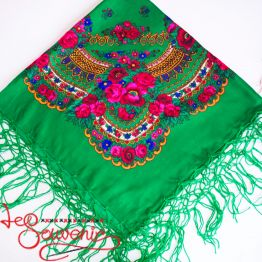 Green Shawl with Flowers UH-1021