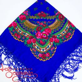 Blue Shawl with Flowers UH-1022