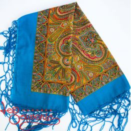 Sky-Blue Shawl with Ornament UH-1024