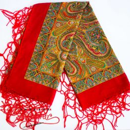 Red Shawl with Ornament UH-1025