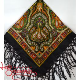Black Shawl with Ornament UH-1026