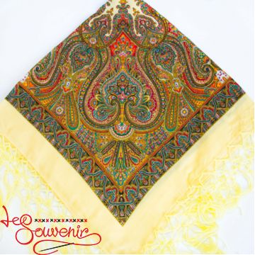 Creamy Shawl with Ornament UH-1027