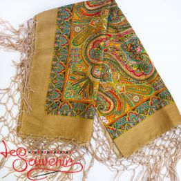 Brown Shawl with Ornament UH-1028
