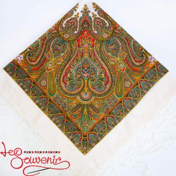 White Shawl with ornament UH-1029