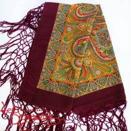 Claret Shawl with Ornament UH-1030