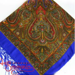 Blue Shawl with Ornament UH-1041