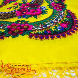 Yellow shawl with flowers with Lurex UH-1052