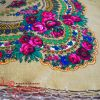 Brown Shawl with Flowers with lurex UH-1058
