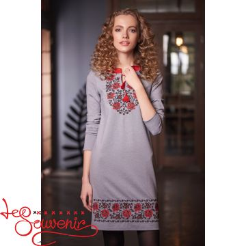 Вишита сукня Трояндові роси VSU-1003