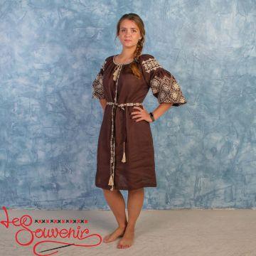 Вишита сукня Іванна коричнева VSU-1005