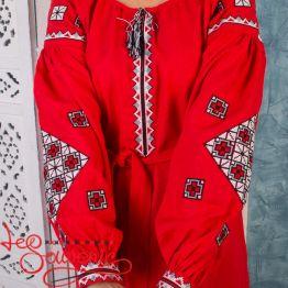 Вышитое платье с орнаментом VSU-1006