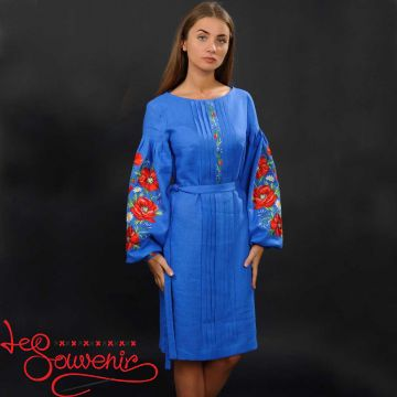 Embroidered Dress Charming poppies VSU-1007