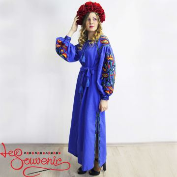 Embroidered Blue Dress VSU-1013
