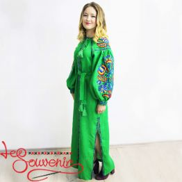 Embroidered Green Dress VSU-1016