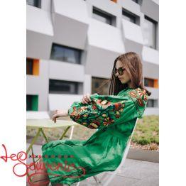Embroidered Green Dress VSU-1018