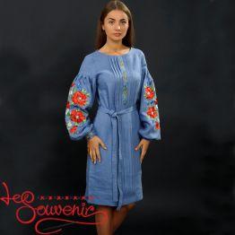 Вишита сукня Чарівні маки VSU-1034