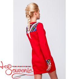Платье-туника красная VSU-1042