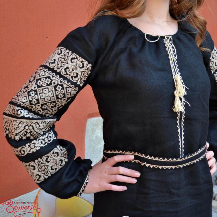 Вишита сукня Панянка з бежевою вишивкою VSU-1069 6fe428a5cfef0