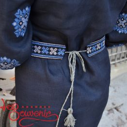 Вишита сукня Панянка з синьою вишивкою VSU-1071