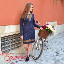 Embroidered Dress Carpathian Corolla VSU-1072