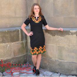 Вишита сукня Чорнобривці VSU-1077