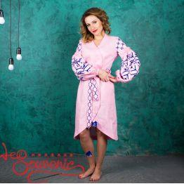 Вышитое льняное платье VSU-1087