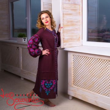 Вишита лляна сукня VSU-1093