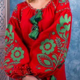Вишита лляна сукня VSU-1095