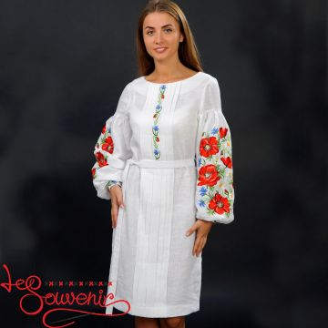 Embroidered Dress Charming poppies VSU-1102