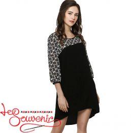 Платье чёрное VSU-1106