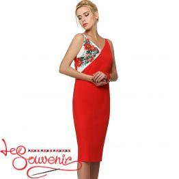 Платье красное VSU-1108