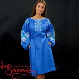 Вышитое платье Маковая грация VSU-1109