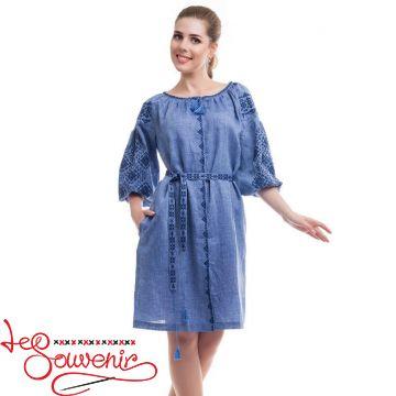 Вишита сукня Іванна синя VSU-1110