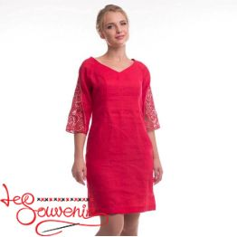 Embroidered Red Dress Zhdana VSU-1117