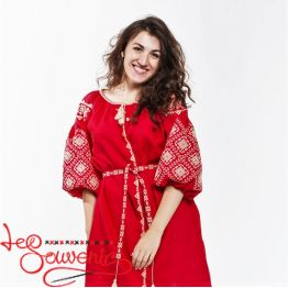 Embroidered Red Dress Ivanna VSU-1119