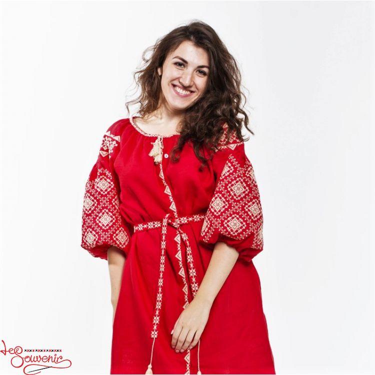 Вишита сукня Іванна червона VSU-1119 e29c694e06301