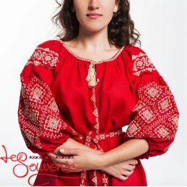 Вишита сукня Іванна червона VSU-1119