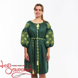 Embroidered Green Dress Ivanna VSU-1120